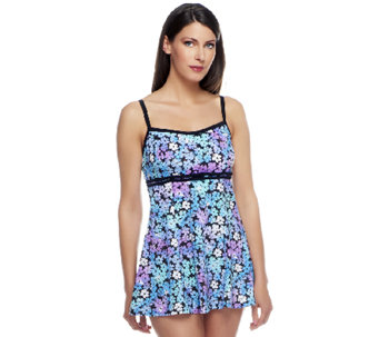 Fit 4 U D's and E's Full Bloom Double Bow Swim Dress - A252562