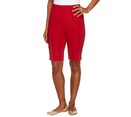 Susan Graver Lustra Knit Pull-On Bermuda Shorts
