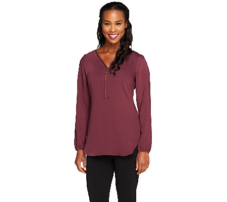 Edge by Jen Rade Zip Front Top