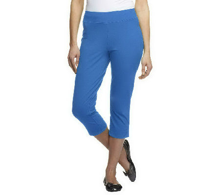 """As Is"" Women with Control Petite Contour Waist Pull-On Capri Pants"