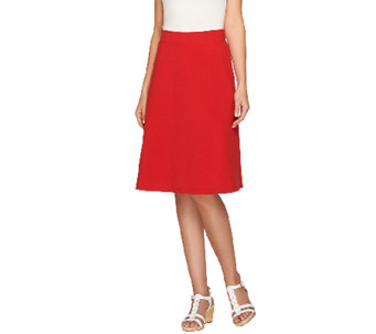 Liz Claiborne New York Essentials Ponte Knit Pull-on Skirt - A261262