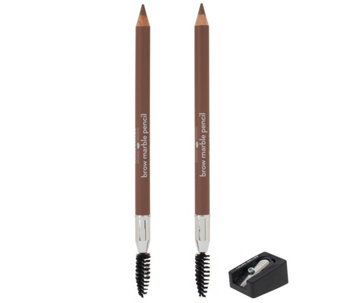Laura Geller Brow Marble Pencil Duo with Sharpener Auto-Delivery - A262262