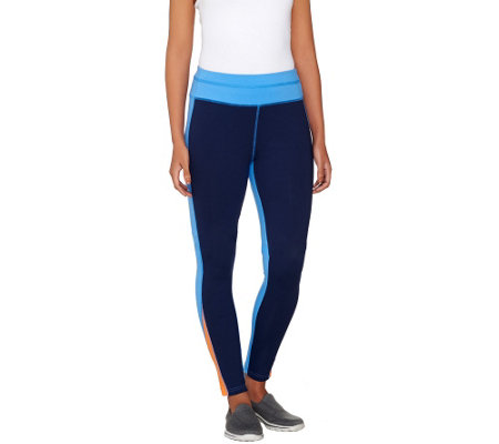 Denim & Co. Active Duo-Stretch Color-Block Leggings