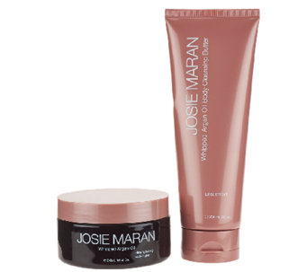 Josie Maran Unscented Body Butter & Cleansing Body Butter Set - A264362