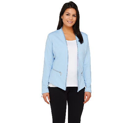 Mark of Style by Mark Zunino Jacket with Zipper Details