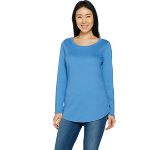 Isaac Mizrahi Live! Essentials Shirttail Hem Knit Tunic - A266662
