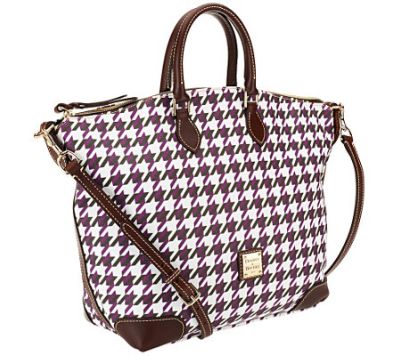 """As Is"" Dooney & Bourke Houndstooth Domed Satchel"