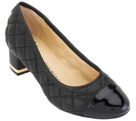 """As Is"" Isaac Mizrahi Live! Quilted Leather Pumps"