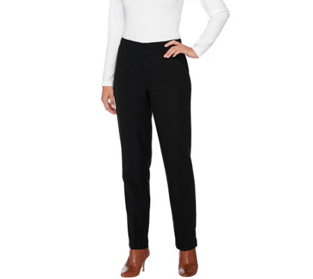 """As Is"" Susan Graver Twill Comfort Waist Pull-On Pants"