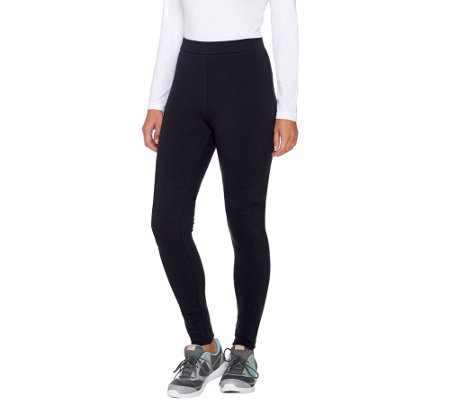 """As Is"" Denim & Co. Active Pull-On Fleece Lined Leggings"