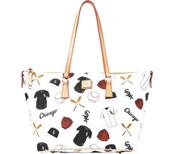 Dooney & Bourke MLB White Sox Zip Top Shopper - A280062