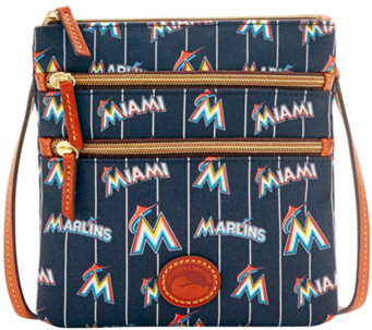 Dooney & Bourke MLB Nylon Marlins Triple Zip Crossbody - A281562
