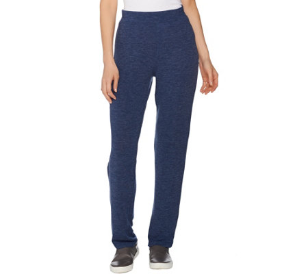 Lisa Rinna Collection Pull-On Straight Leg Knit Pants