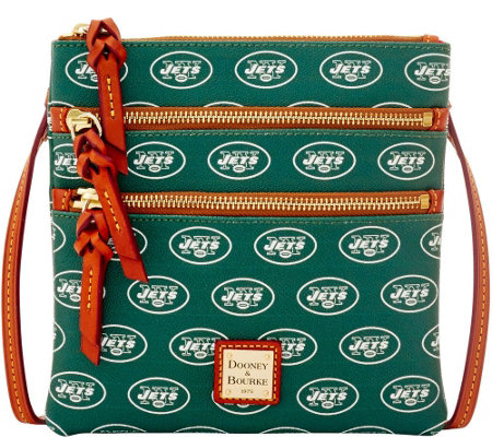 Dooney & Bourke NFL Jets Triple Zip Crossbody