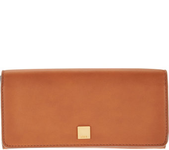 LODIS Italian Leather Flap Clutch Wallet with RFID Protection - A286162