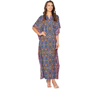 Joan Rivers Regular Length Spice Market Jersey Knit Caftan - A289062