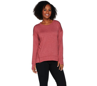 """As Is"" Cuddl Duds Comfortwear Lounge Pullover with Zip Detail - A289962"