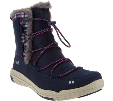 """As Is"" Ryka Faux Fur Water Repellent Boots - Aubonne"