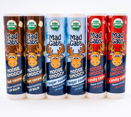 Mad Gab's Moose Smooch Lip Balms - Assorted6-Pack
