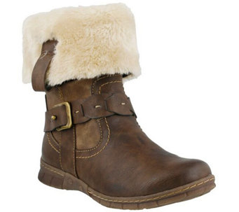 Spring Step Boots with Faux Fur Cuff - Peeta - A356362