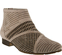 Spring Step Suede Perforated Booties - Sarani - A356862