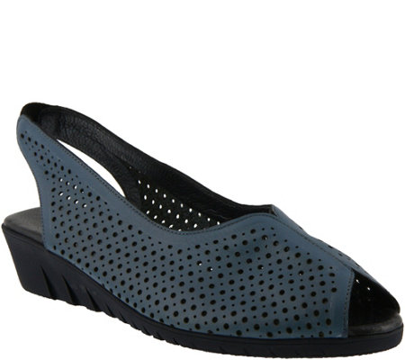 Spring Step Perforated Leather Sandals - Lisbon