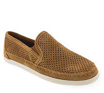 Minnetonka Suede Leather Slip-On Sneakers - Pacific Suede - A362562
