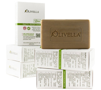 Olivella Set of 6 100% Virgin Olive Oil Beauty Bars - A81962