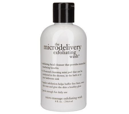 philosophy microdelivery exfoliating wash, 8 oz.