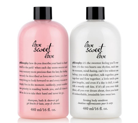 philosophy love sweet love shower gel & body emulsion duo, 16 oz.