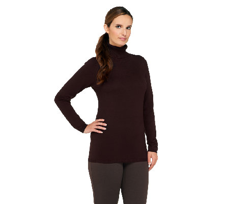 Susan Graver Essentials Long Sleeve Turtleneck Sweater