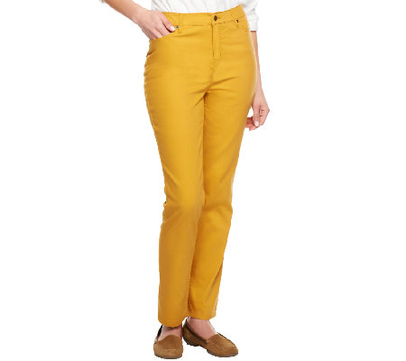 Liz Claiborne New York Petite Hepburn Slim Leg Colored Jeans