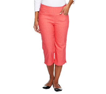 "Denim & Co. ""How Smooth"" Petite Jean Capris with Pockets - A252863"