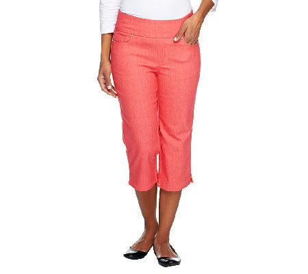 "Denim & Co. ""How Smooth"" Petite Jean Capris with Pockets"