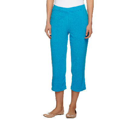 Susan Graver Terry Cloth Pull-on Capri Pants
