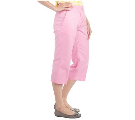 """As Is"" Liz Claiborne New York Jackie Twill Capri Pants"
