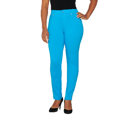 Isaac Mizrahi Live! Regular Ponte Knit Ankle Pants