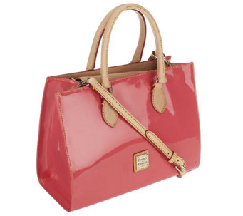 """As Is"" Dooney & Bourke Janine Patent Leather Satchel - A261763"