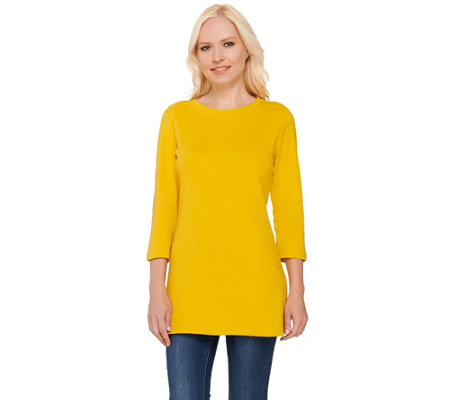 Isaac Mizrahi Live! Essentials Curved Hem Tunic