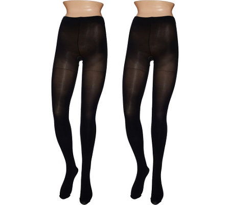 Legacy Graduated Compression Opaque Tights Set of Two