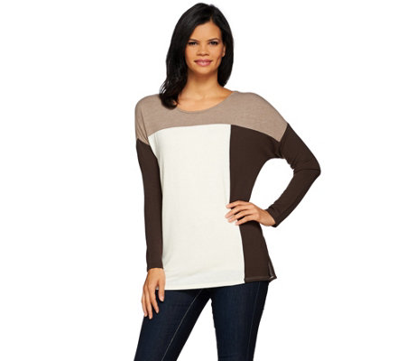 Women with Control Controlways Color-Block Knit Tunic