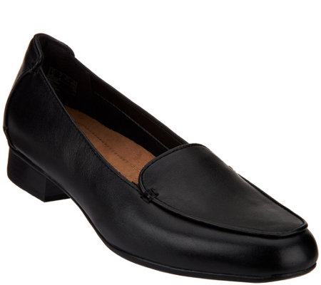 Clarks Artisan Leather Slip-on Loafers - Keesha Luca
