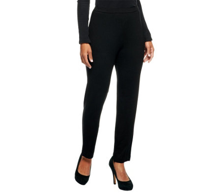 """As Is"" George Simonton Opulent Jersey Pull-On Knit Pants"