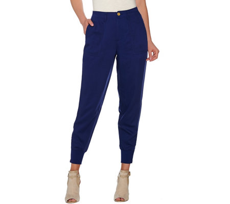 C. Wonder Jogger Pants with Zip Rib Cuff and Pockets