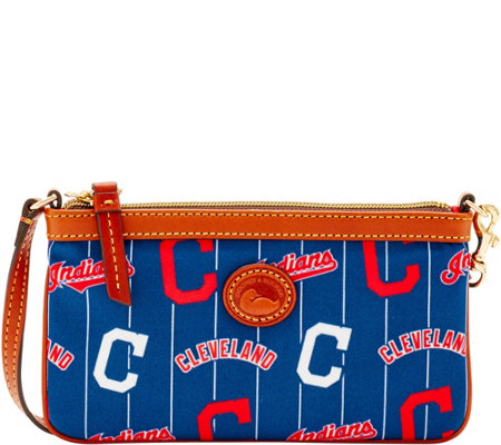 Dooney & Bourke MLB Nylon Indians Large Slim Wristlet