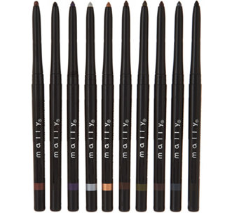 Mally 10-pc Evercolor Gel Waterproof Eyeliner Library - A281963