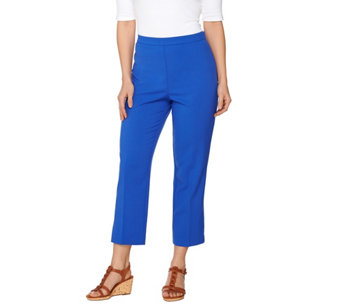 """As Is"" Susan Graver Chelsea Stretch Comfort Waist Side Zip Crop Pants - A285263"
