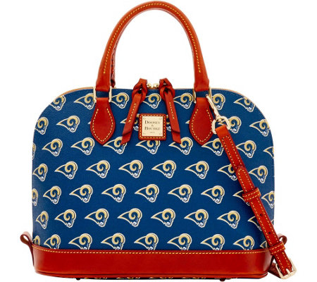 Dooney & Bourke NFL Rams Zip Zip Satchel