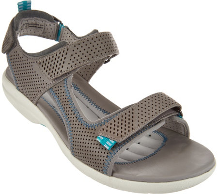 """As Is"" Clarks UnStructured Leather Sport Sandals - Un. Neema"