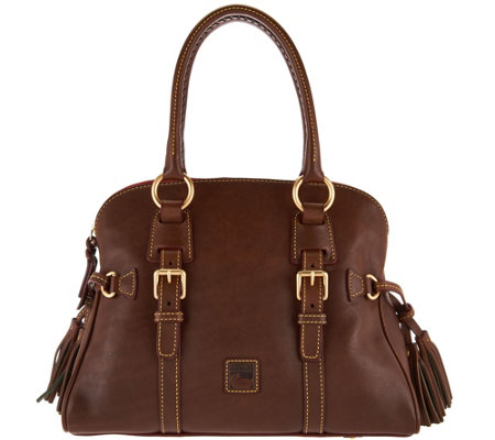 """As Is"" Dooney & Bourke Florentine Leather Domed Buckle Satchel"